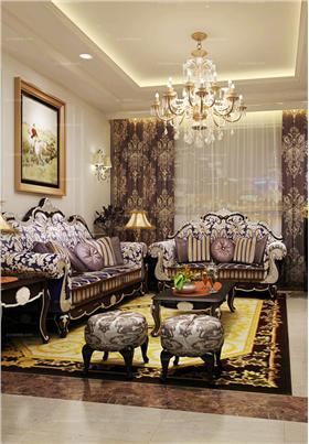 120平米新古典裝修:極簡奢華風扮出敞亮三居室