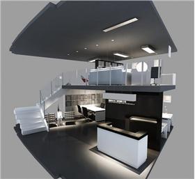 二層辦公室設計立體圖