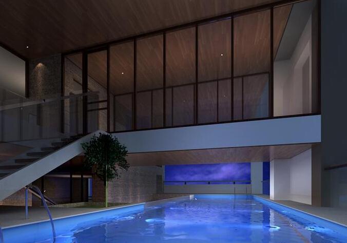 私人会所游泳池装修效果图