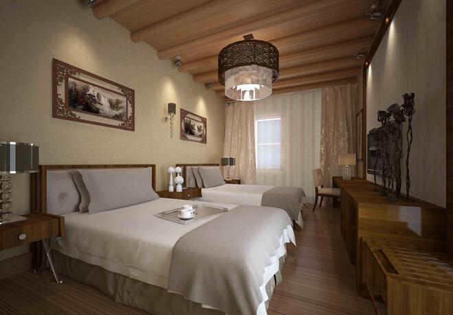 装修效果图 宾馆房间室内设计装饰效果图片  收藏