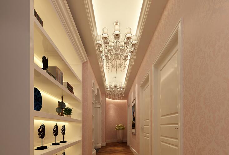 美容院室內窗簾裝修效果圖片_合抱木工裝效果圖