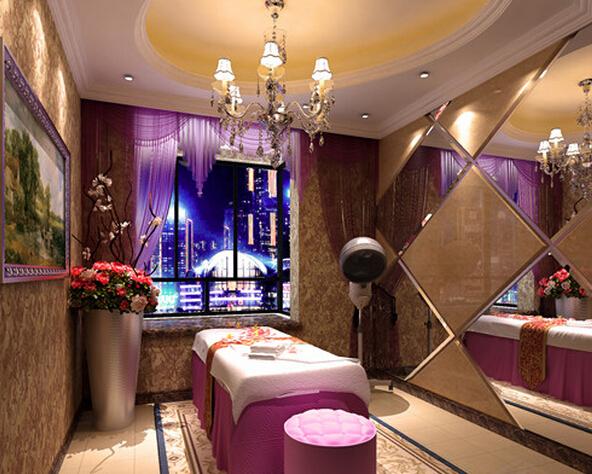 美容院室内设计装修图片案例_合抱木工装效果图