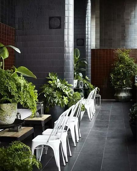 绿植主题餐厅装修效果图