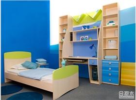 兒童房书桌书架设计