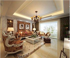 歐式風格客廳沙發背景墻裝修效果圖-歐式風格客廳沙發圖片