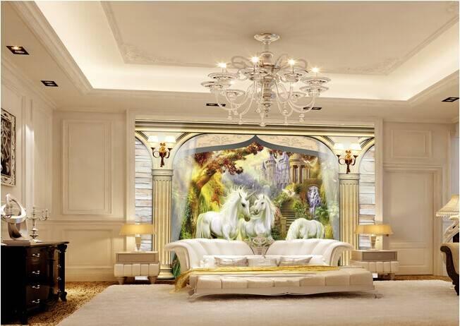 美观时尚的欧式壁画图片 _合抱木家装效果图