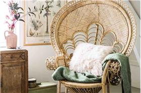 中式陽臺藤椅