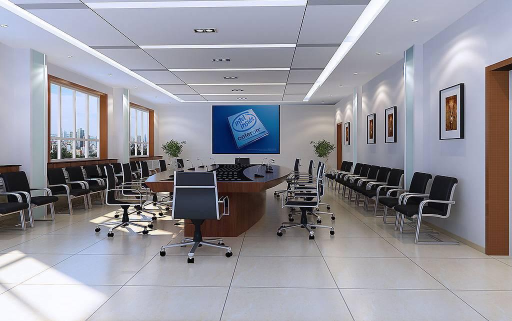 简约风格会议室吊顶装修效果图-简约风格办公椅图片