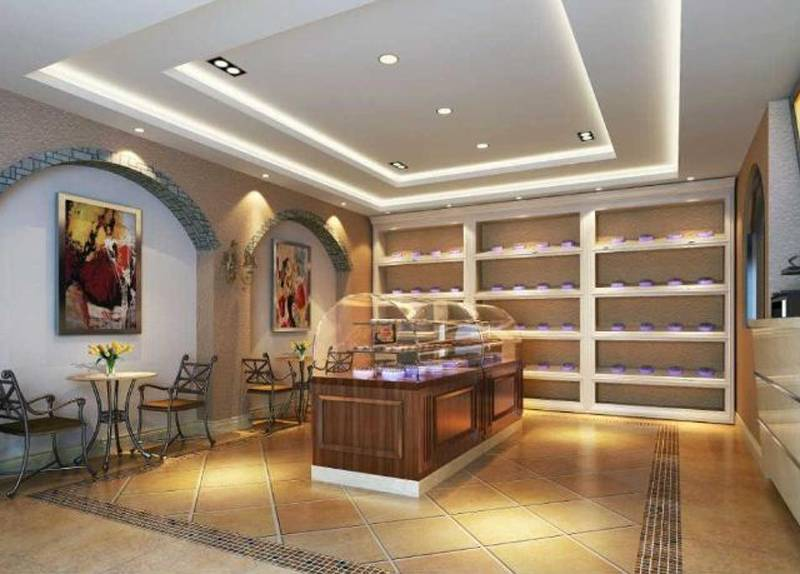 简约欧式风格蛋糕店装饰画装修效果图-简约欧式风格展示柜图片图片