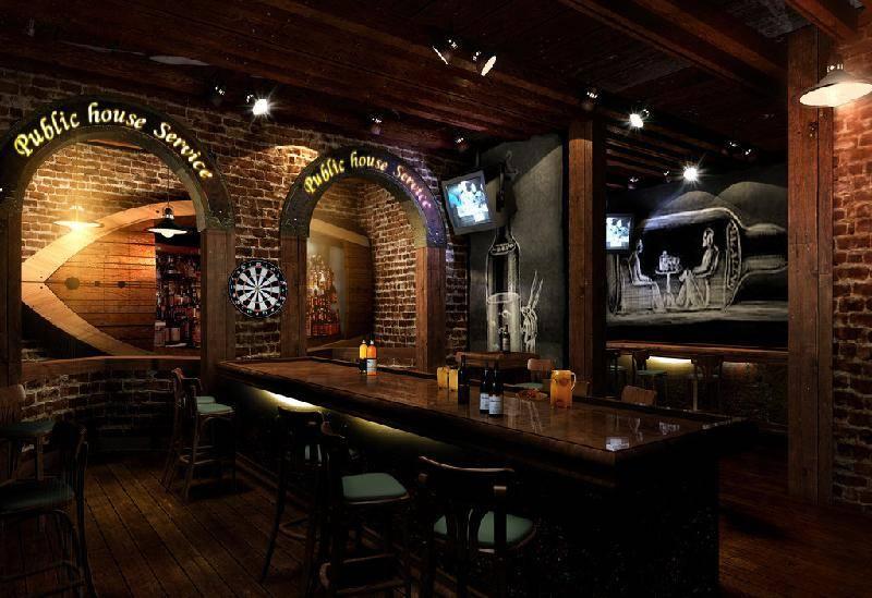美式風格酒吧裝修效果圖-美式風格吧臺椅圖片