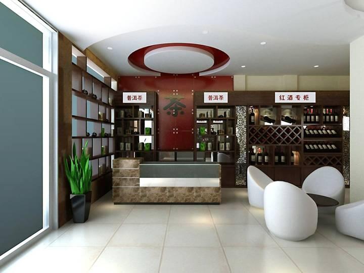 现代简约风格烟酒店装修效果图-现代简约风格酒柜图片