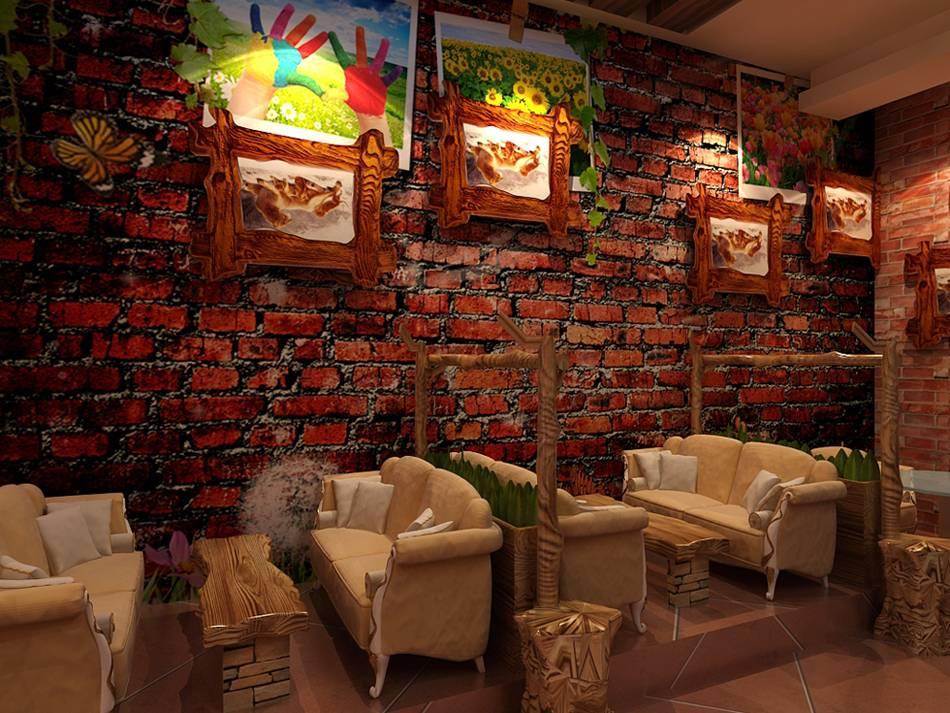 欧式乡村风格咖啡馆装修图片-欧式乡村风格沙发椅图片