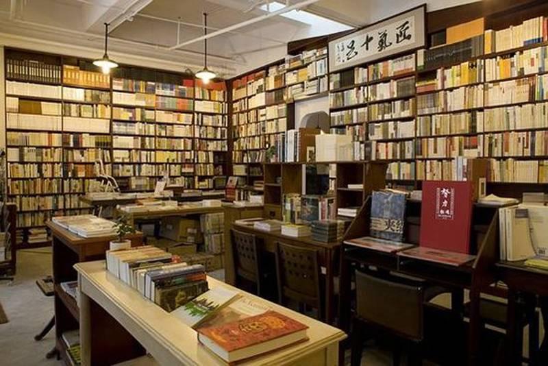 新中式風格書店裝修圖片-新中式風格書架圖片