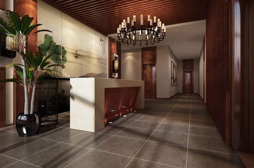 中式风格茶楼吊顶装修图片