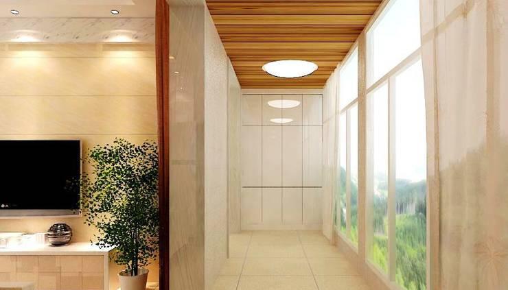 装修效果图 简洁时尚的桑拿板吊顶设计