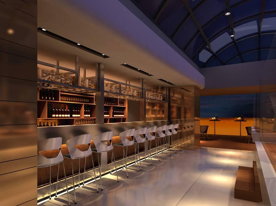 现代风格酒吧吧台装修效果图