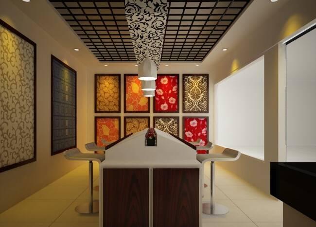 现代风格壁纸店面装修效果图