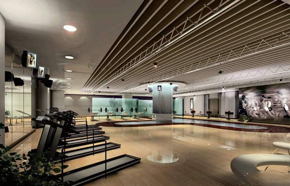 现代风格健身房吊顶装修效果图