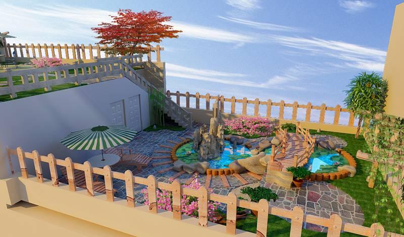 简约风格楼顶花园装修效果图