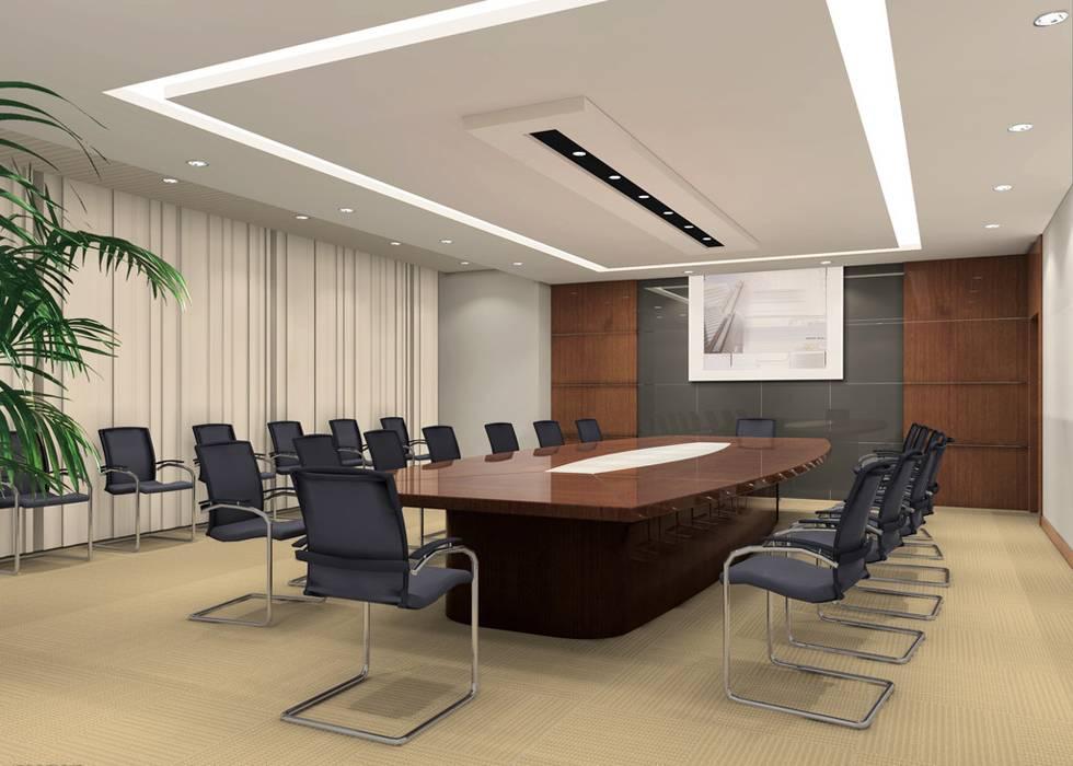 现代风格会议室吊顶装修效果图-现代风格办公椅图片
