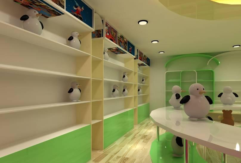 現代風格玩具店裝修效果圖-現代風格貨架圖片
