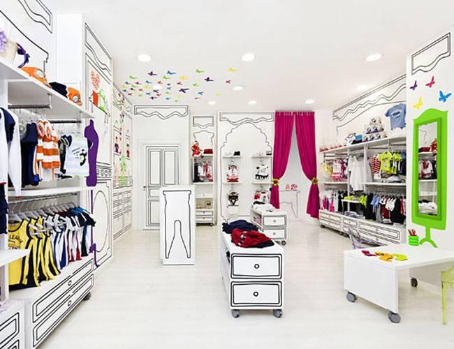 简约风格童装店装修效果图-简约风格置物架图片