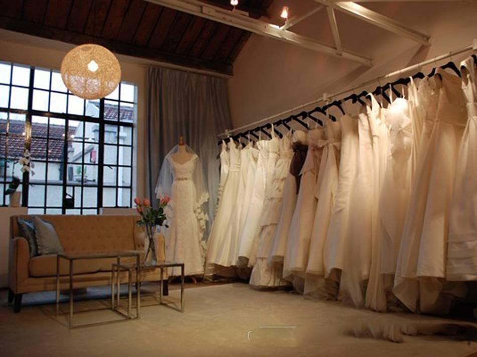 简约风格婚纱店装修图片-简约风格双人沙发图片