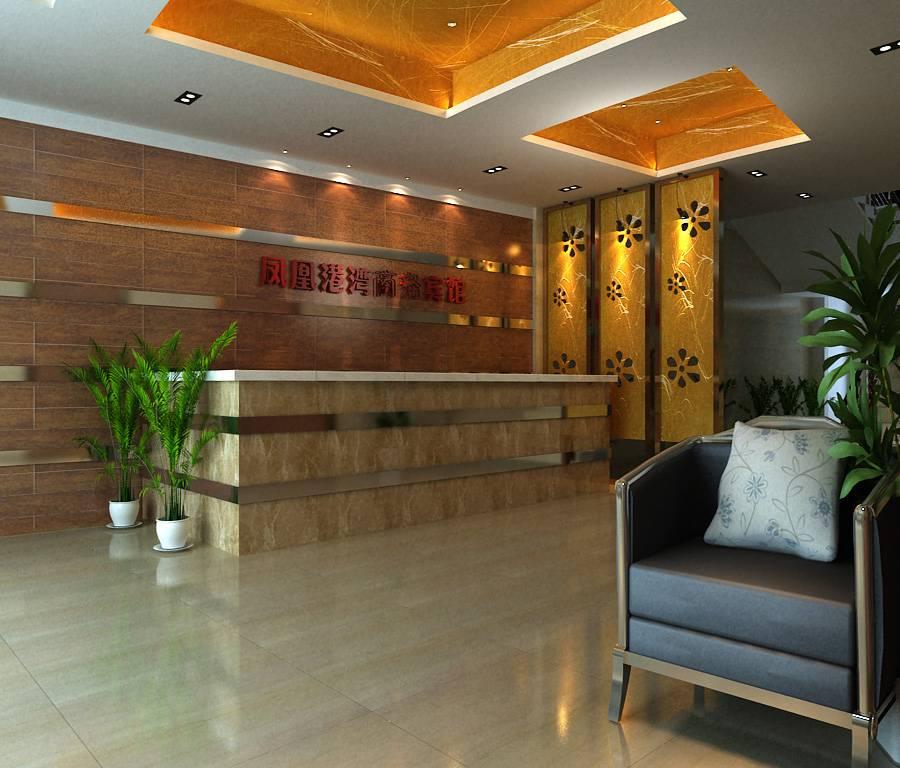 现代风格宾馆大厅背景墙装修效果图-现代风格椅凳图片