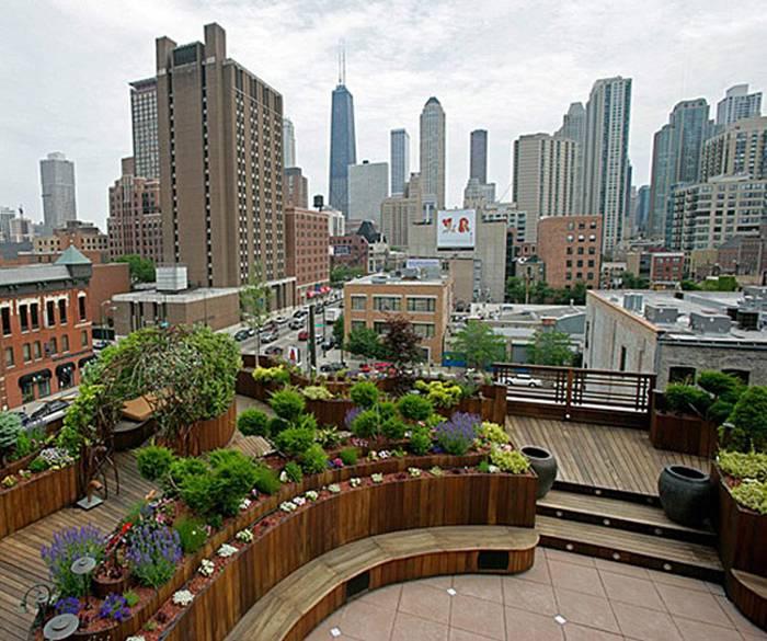 简约风格楼顶花园装修图片