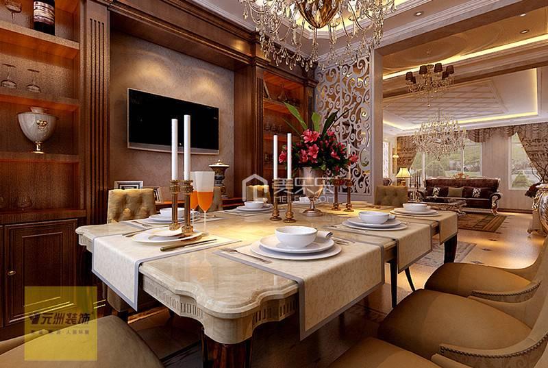 别墅餐厅餐桌椅近景图片