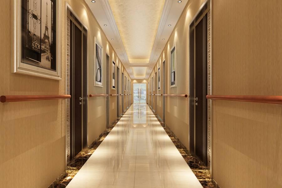 简约风格宾馆走廊装修效果图