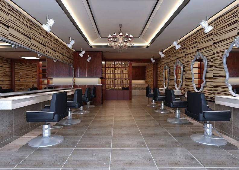 现代风格理发店装修图片-现代风格转椅图片_合抱木工