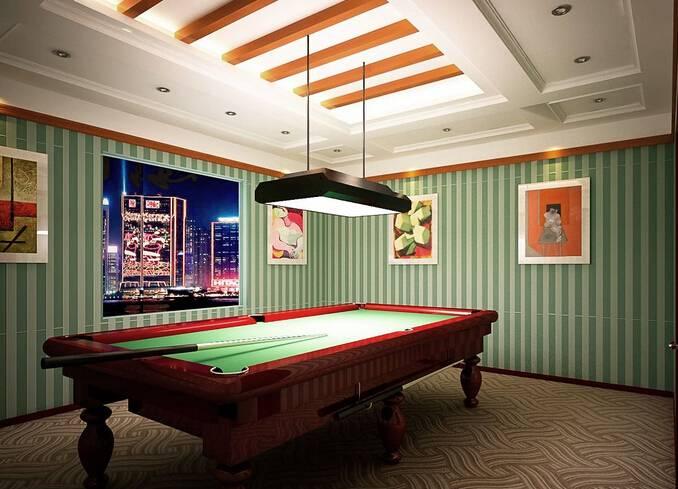 现代风格台球厅装修效果图