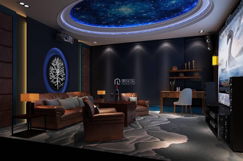 地下影音室_地下室家庭影音室设计效果图