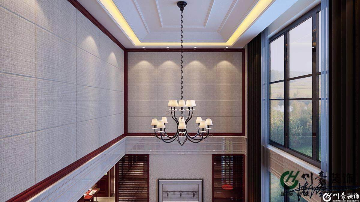 复式楼挑空客厅上半部设计效果图
