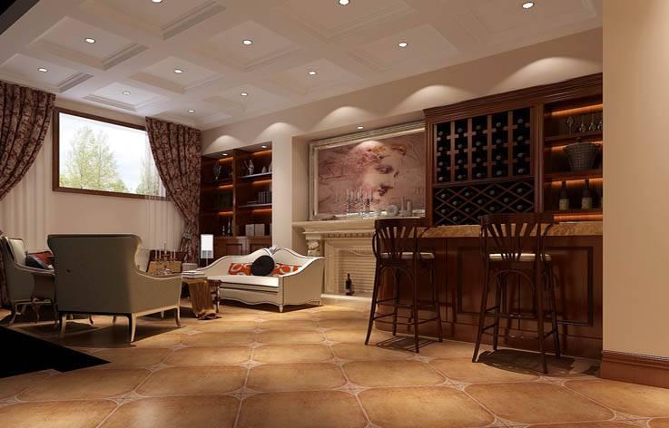 装修效果图 时尚个性的酒柜吧台装修设计  收藏