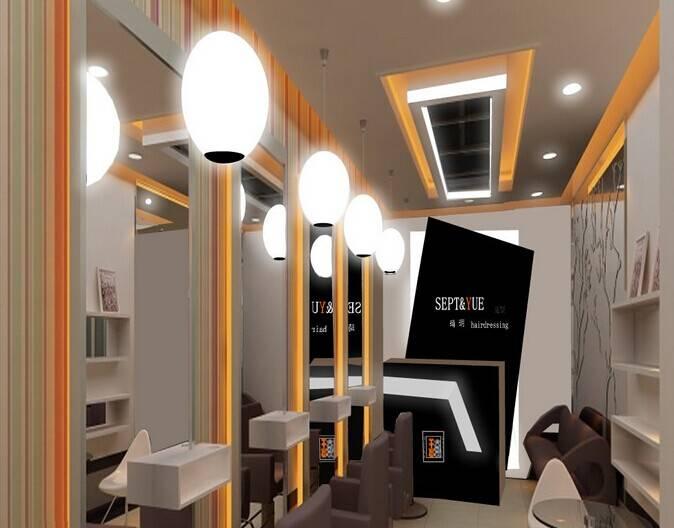 店吊顶装修效果图-现代简约风格洗发床图片  免费领取设计方案免费