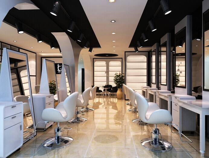简约风格理发店装修效果图-简约风格转椅图片