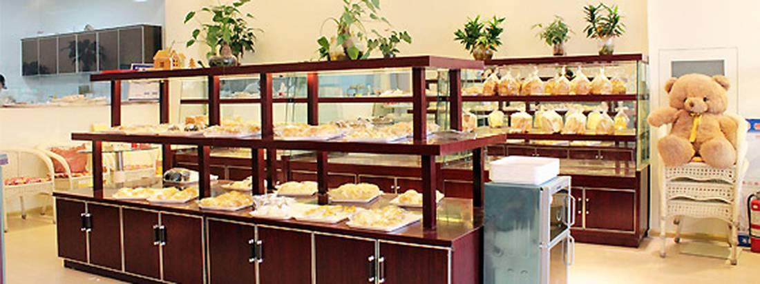 简约欧式风格蛋糕店装修图片-简约欧式风格置物架图片