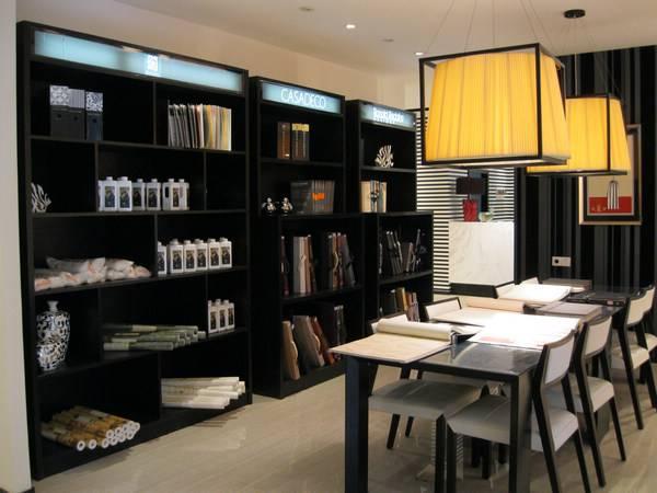 现代风格壁纸店装修图片-现代风格展柜图片