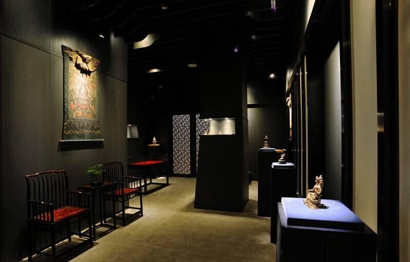 新中式风格古玩店装修效果图-新中式风格椅凳图片