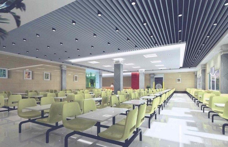 清新食堂设计装修效果图