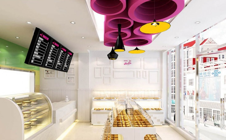 巴黎天使蛋糕店装修效果图