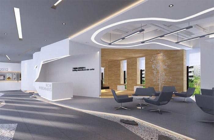 现代办公室室内设计_装修效果图