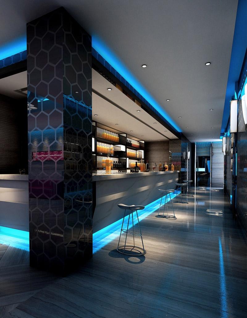 现代风格酒吧吊顶装修效果图-现代风格吧台椅图片_装