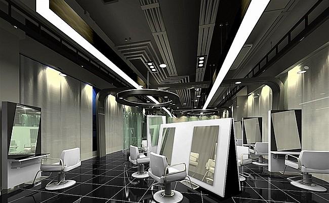 現代簡約風格火鍋店吊頂裝修圖片-現代簡約風格椅凳圖片