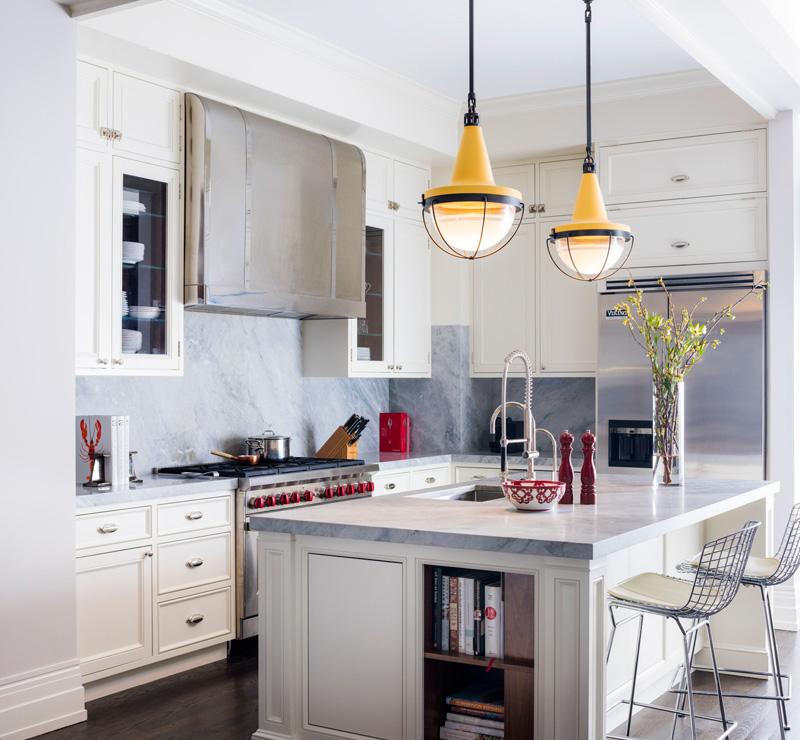 简欧风格大气轻奢开放式厨房装修图片