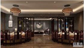 中式风格酒店装修设计 500平方米公装项目