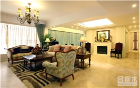 125平米新古典风格三居室装修案例