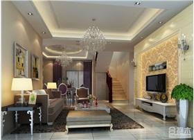 雅居乐复式160平米简约复式家居装修